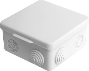 Коробка распаячная открытой проводки 85х85х40